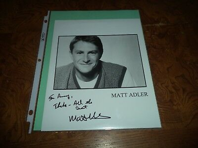 Matt Adler Autographed 8x10 Photo