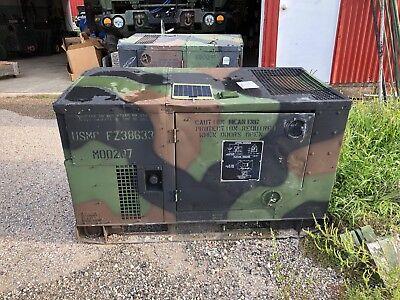 Military Mep-803a 10kw 50 60 Hz Diesel Quiet Generator 120-240 Single Ph 3-ph