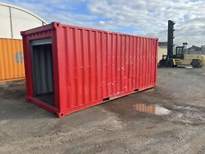20ft shipping container with roller door