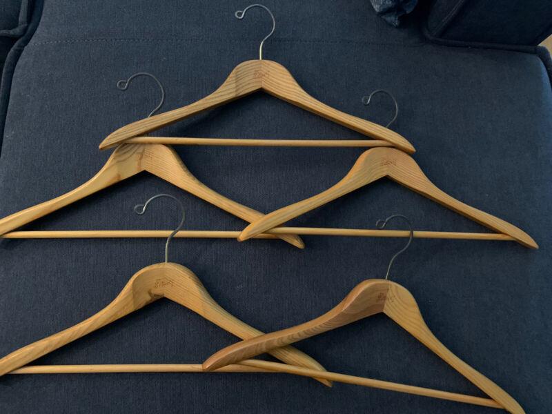 "Vintage Large Setwell Wooden Hanger Wood 18"" Beautiful Finish 5pk"