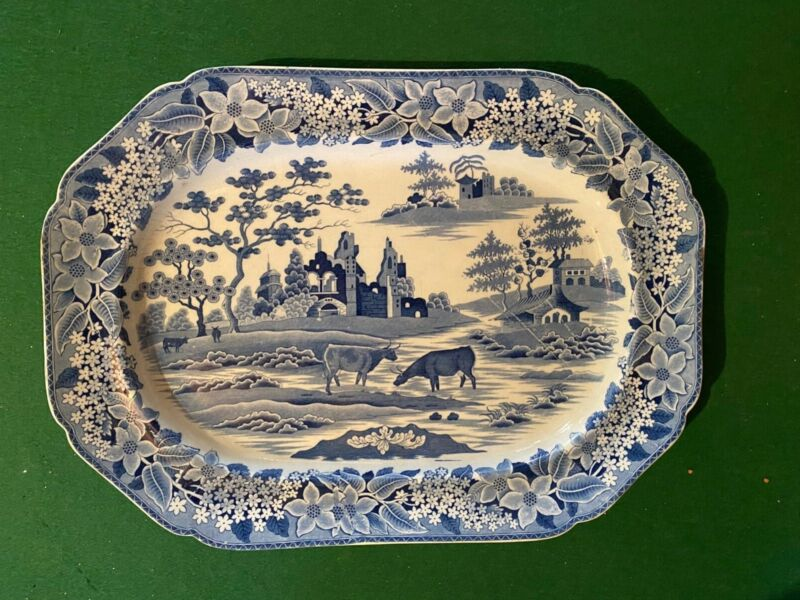 Earthenware Chinoiserie Large Serving Platter 1820/1825