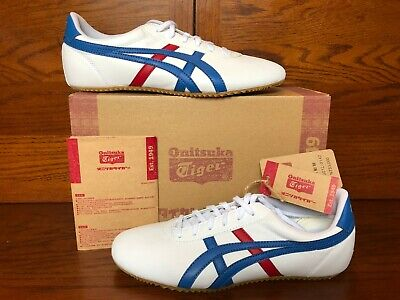 Onitsuka Tiger Tai Chi Limited Edition Martial Art Shoes Size 8.5 White & Blue (Tai Chi Leather)