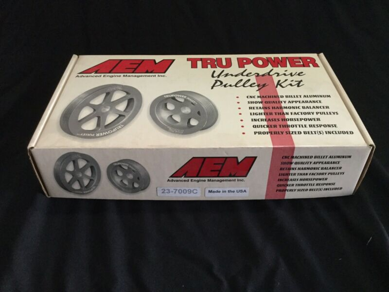 AEM 23-7009C Tru-Power Underdrive Pulley Kit w/belts- 88-1997 Fit  Honda/acura
