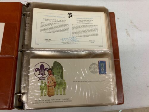 Official Year of the Scout First Day Cover Collection, 1982 100 Plus Cards  NPC5