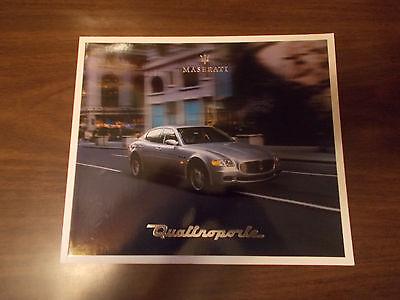2004 Maserati Quattroporte Sales Catalog