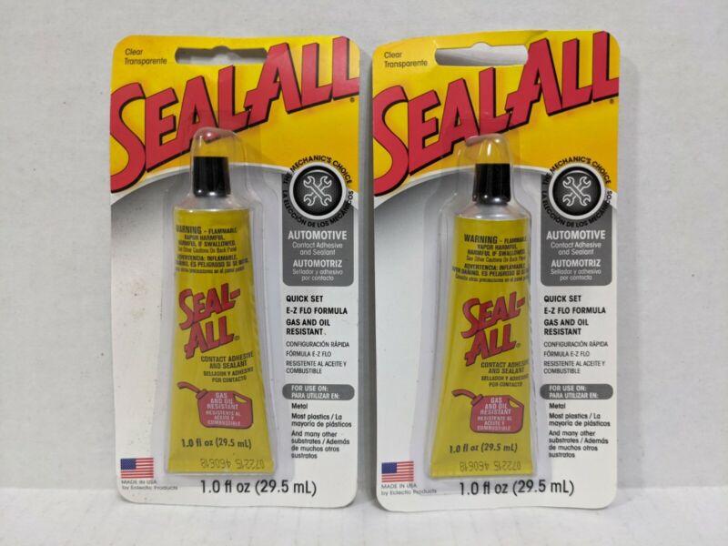 2 SEAL ALL 2oz Contact Automotive Garage Adhesive Sealant Glue CLEAR High Strgth