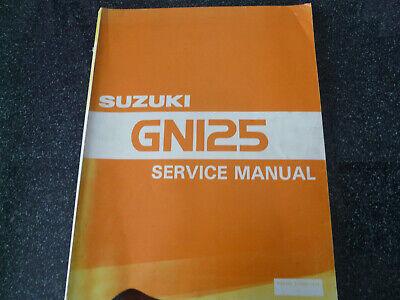 Suzuki GN 125  F  Service Manual Handbuch Werkstatthandbuch Shop Manual