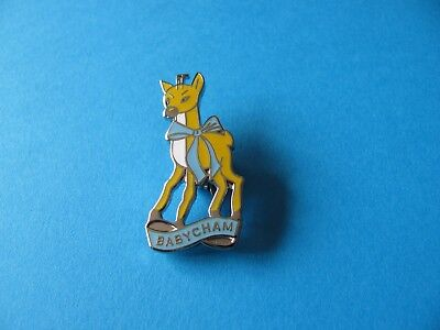BABYCHAM Brooch / Badge, VGC. Unused. Hard Enamel. Deer