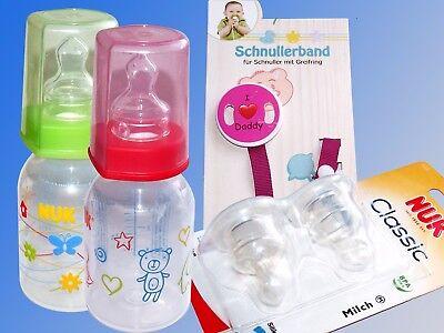 Nuk Baby Bottle, Airflex Teat, Dummy Band Nuckel Chain Bottle](Baby Bottle Bands)