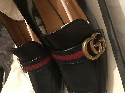 Gucci, Leather mid-heel Loafer