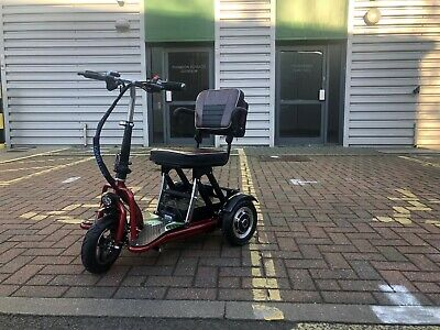 Electric Disabled Elderly Folding Scooter Moped Foldable Mobility Tricycle Bike
