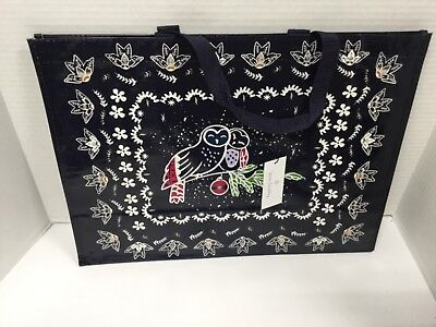 Vera Bradley NWT - Market Tote - in Holiday Owls Pattern - Owl Tote
