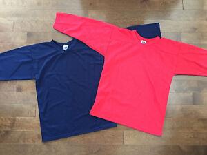 Chandails de hockey SP jeune/youth L/XL, 11 rouges et 12 bleus