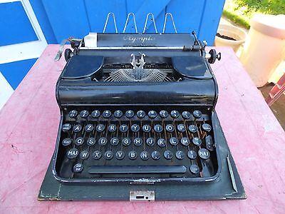 máquina de escribir Olympia vintage máquina de escribir ornamentación loft