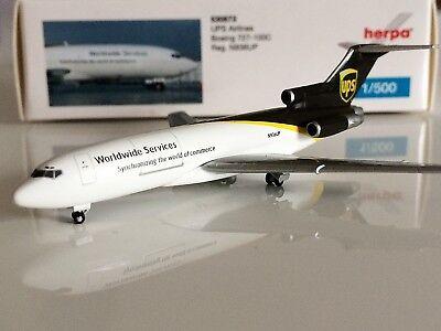 /N936UP Herpa 530873/Vehicle UPS Airlines Boeing 727/100//°C/