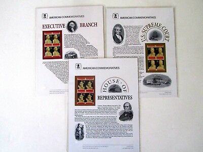 (4) Different Branches of US Government Commemorative Panels, Original USPS pkg (4 Branches Of Government)