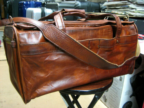 "Vintage HARTMANN  Belting Leather Carry on Luggage Travel Bag  21"""