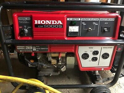 Honda Em5000s Gas Powered Generator Used - Local Pickup