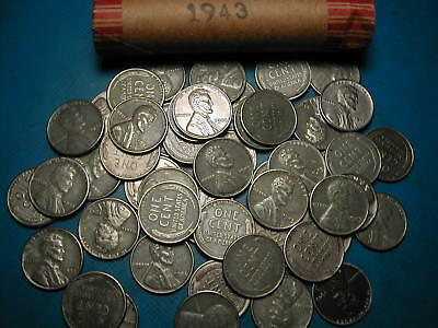 Lincoln Wheat Penny (1943-P LINCOLN STEEL WHEAT CENT PENNY ROLL (50 COINS) )
