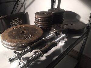 Metal weights for sale. 160 lbs