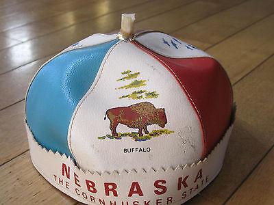 Nebraska Corn Husker Beenie Hat Child's Souvenir Boys Town Oregon Trail Buffalo