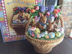 Beautiful Porcelain Easter Basket