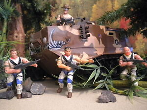 GI JOE ~ 2006 SGT SLAUGHTER,RED DOG,TAURUS & MERCER ~ RENEGADES CMPL~ CONVENTION