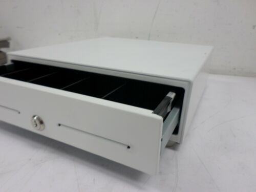 "Star Micronics White Cash Drawer 37965550 13"" x 13"" 5 Bill / 8 Coin NO KEYS"