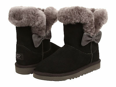 Kids UGG Australia Kourtney Boot 1005398K Black Suede 100% Authentic Brand New