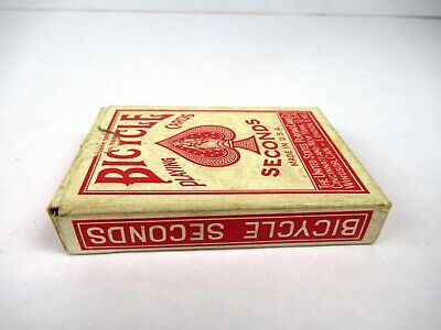 """Vintage Bicycle Seconds Playing Cards Collectible Made In USA Genuine Rare """"F"""