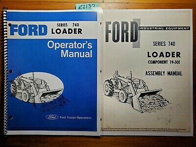 Ford 740 Loader For 4500 Industrial Tractor 1968- Operator Manual Assembly 68