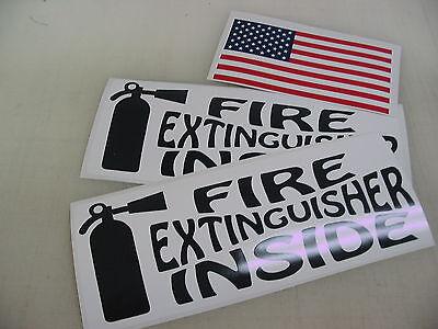 Black Fire Extinguisher Inside Decal Sticker 4 18 Wheeler Tow Truck Free Usa