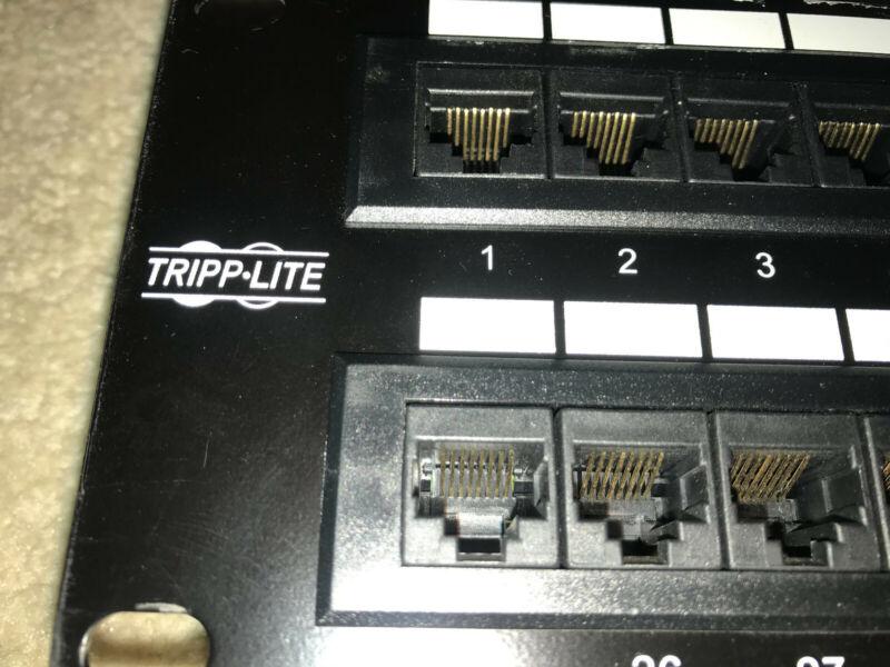 Tripp Lite 48 port CAT6 patch panel 2U (cf. N252-048 or P48T-C6)