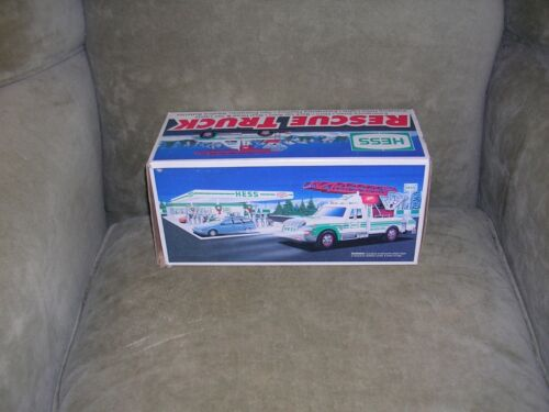 HESS TRUCKS - RESCUE TRUCK - MADE IN 1994 - LOVINGLY PRE-OWNED - MINT CONDITION