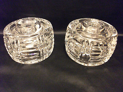 WATERFORD CRYSTAL VINTAGE HEAVY TAPER CANDLE STICKS~IRELAND