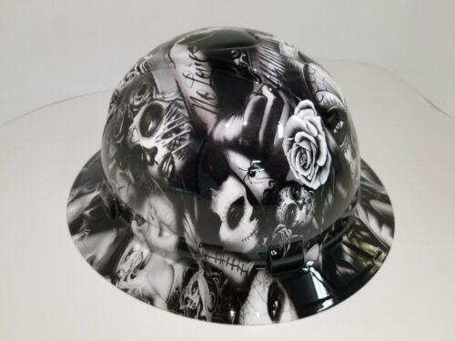 FULL BRIM Hard Hat custom hydro dipped in NO LOVE ALL HUSTLE HOT WHITE HOT NEW 1