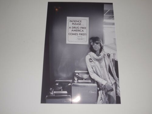 "Keith Richards ""Drug Free"" Rolling Stones 1972 USA Tour Backstage Poster 19""x13"""