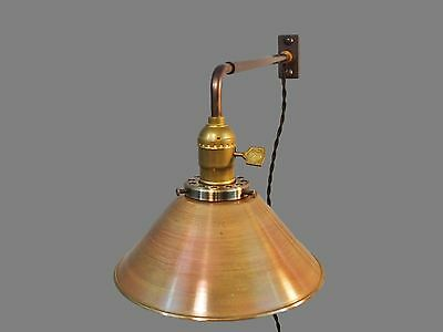 Vintage Industrial Wall Mount Light - BRASS SHADE - Machine Age Cage Lamp Sconce