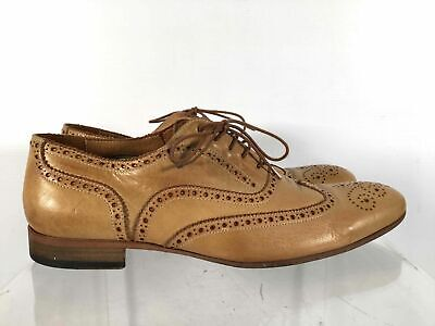 Paul Smith Made Italy Tan Leather Men's Lace Up Wingtip Oxford Dress Shoes Sz 9