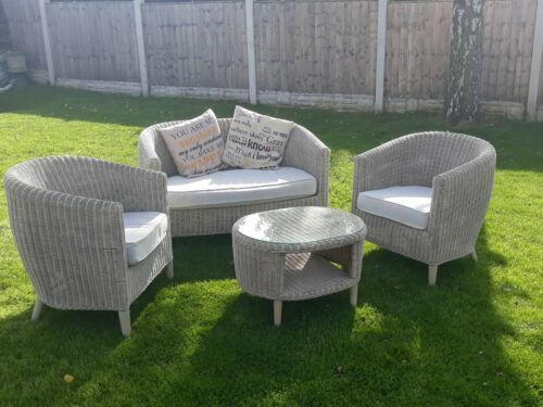 Garden Furniture - Used four seater wicker garden furniture with table