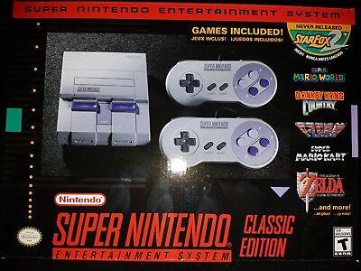 Super Nintendo Snes Classic Edition Mini System Console  Brand New Sealed