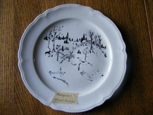 Hand-Painted Plate - Erhart Mueller - Sauk City, Wisconsin - Sumpter