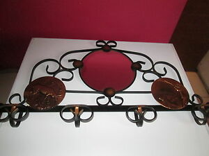 ancien porte manteau art deco fer forge decor chasse ebay. Black Bedroom Furniture Sets. Home Design Ideas
