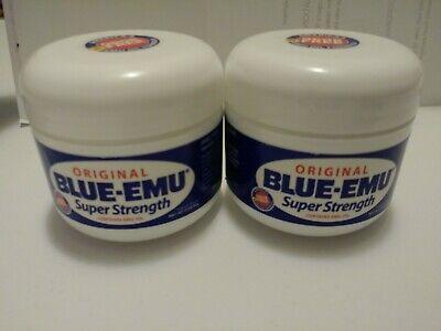 2 Original BLUE-EMU Super Strength Topical Cream - 2oz FREE SHIPPING