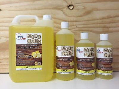 Wood Care - Wood & Laminate Floor Natural Cleaner Protector - 500ml - Lemon