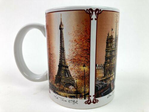 Paris La Tour Eiffel Tower Notre Dame Coffee Mug Beverage Cup Dessapt Editions