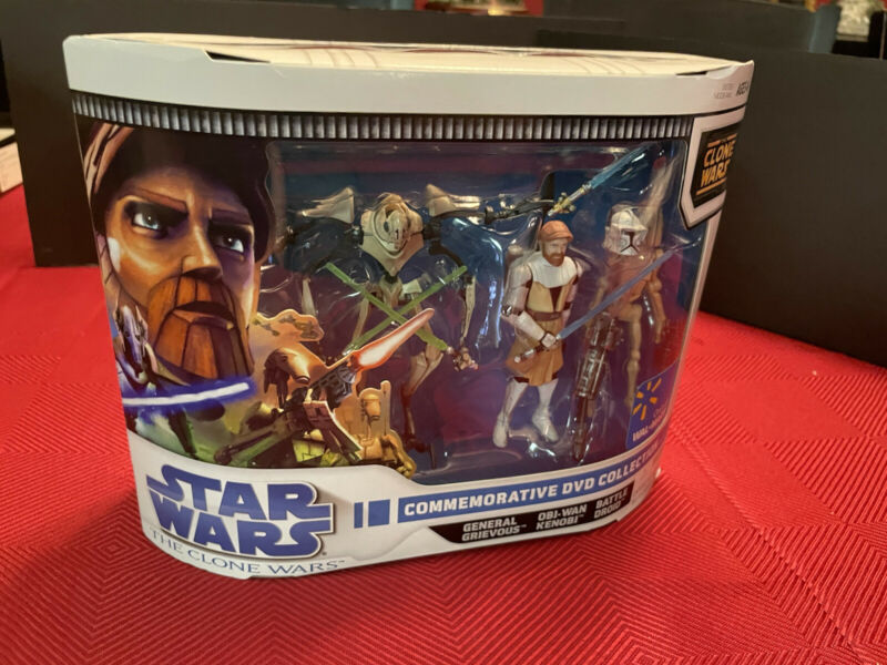 Star Wars  Clone Wars Walmart Exclusive 3-Pack on Cartoon Network Greivous Obi