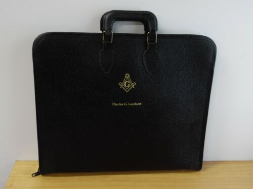 Masonic apron with case soft full zip free mason