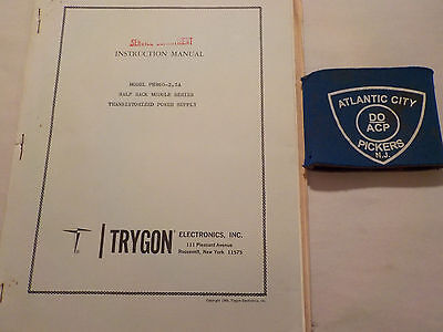 Trygon Phr60-2.5a Half Rack Module Power Supply Instruction Manual
