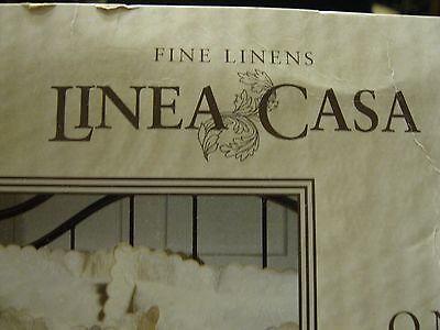 LINEA CASA KING size Matelasse Coverlet set 3pc  IVORY NEW  100% cotton LAST ONE